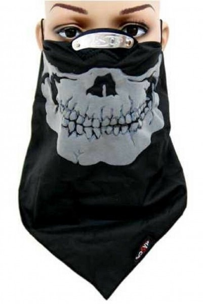 BIKERTUCH - Maske Gesichtsmaske Grey Skull