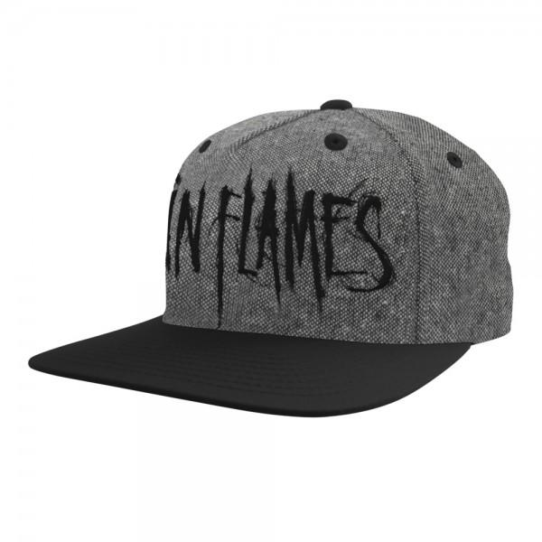 IN FLAMES - Logo Grau Baseballcap