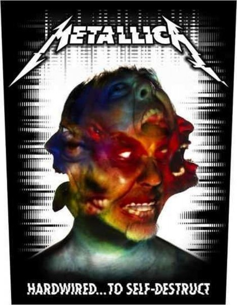 METALLICA - Hardwired Backpatch Rückenaufnäher