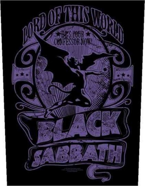 BLACK SABBATH - Lord Of This World Backpatch Rückenaufnäher