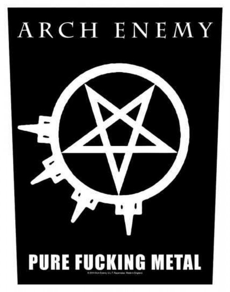 ARCH ENEMY - Pure Fucking Metal Backpatch Rückenaufnäher