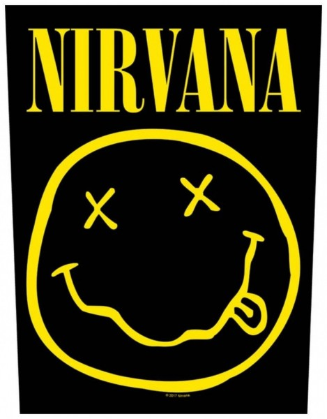 NIRVANA - Smiley Backpatch Rückenaufnäher