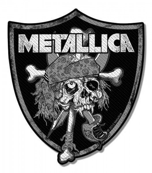 METALLICA - Raiders Skull Patch Aufnäher