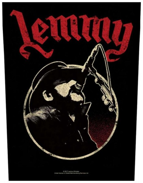 MOTÖRHEAD - Lemmy Microphone Backpatch Rückenaufnäher