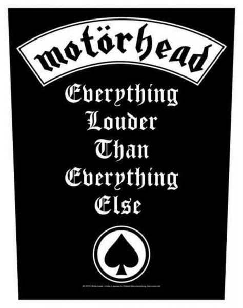 MOTÖRHEAD - Everything Louder Backpatch Rückenaufnäher