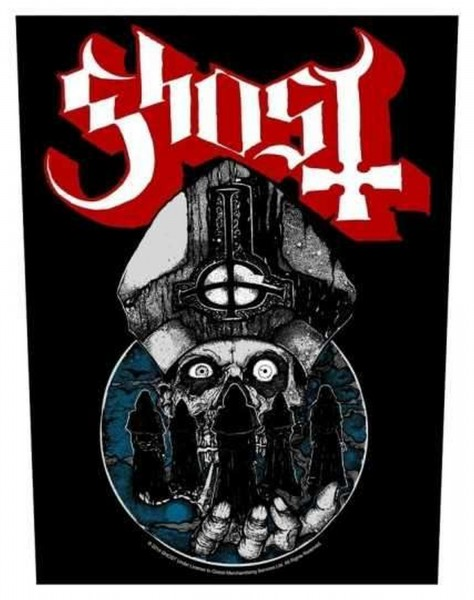 GHOST - Papa Warriors Backpatch Rückenaufnäher