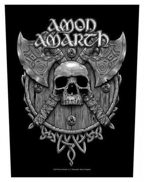 AMON AMARTH - Skull & Axes Backpatch Rückenaufnäher