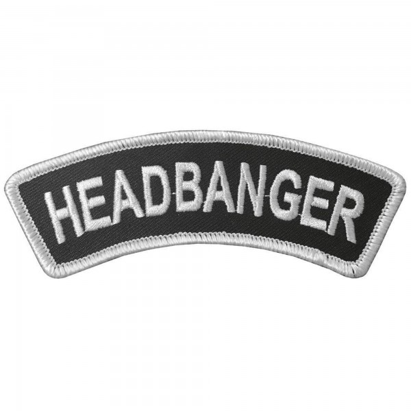 HEADBANGER - Banner Patch Aufnäher