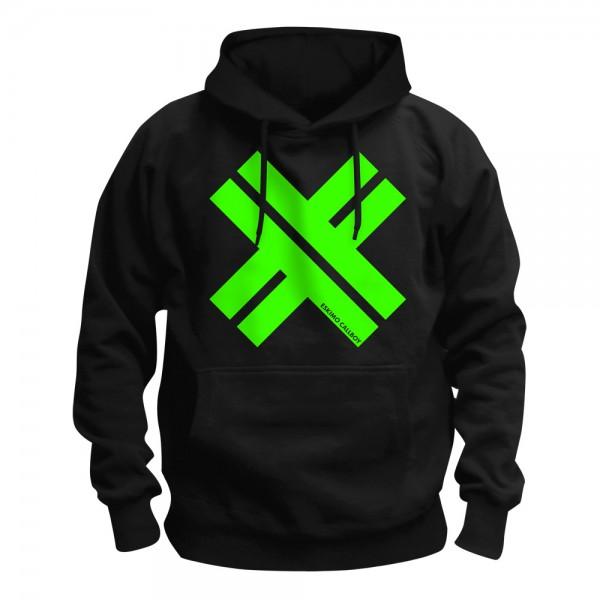 ESKIMO CALLBOY - Big X Green Kapuzenpullover Hoodie