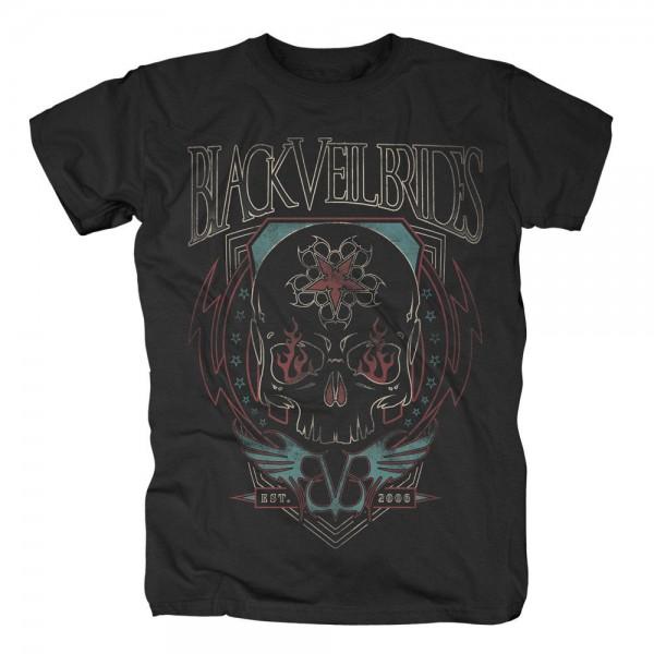 BLACK VEIL BRIDES - Skull Flames T-Shirt