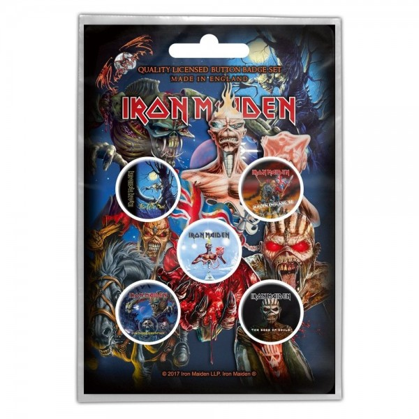 IRON MAIDEN - Later Albums Button-Set Badge Pack