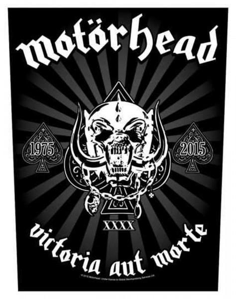 MOTÖRHEAD - Victoria Aut Morte 1975 - 2015 Backpatch Rückenaufnäher