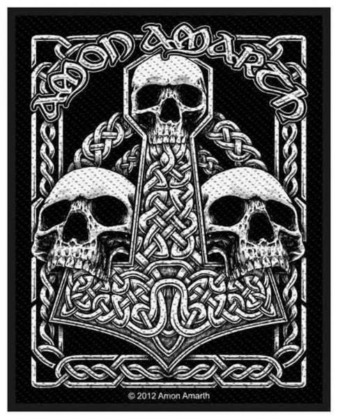 AMON AMARTH - Three Skulls Patch Aufnäher