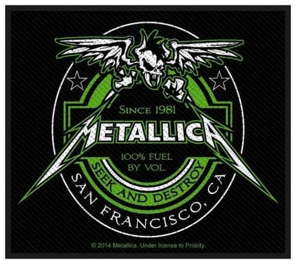 METALLICA - Beer Label Patch Aufnäher