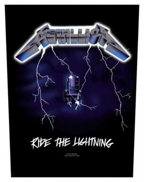 METALLICA - Ride The Lightning Backpatch Rückenaufnäher
