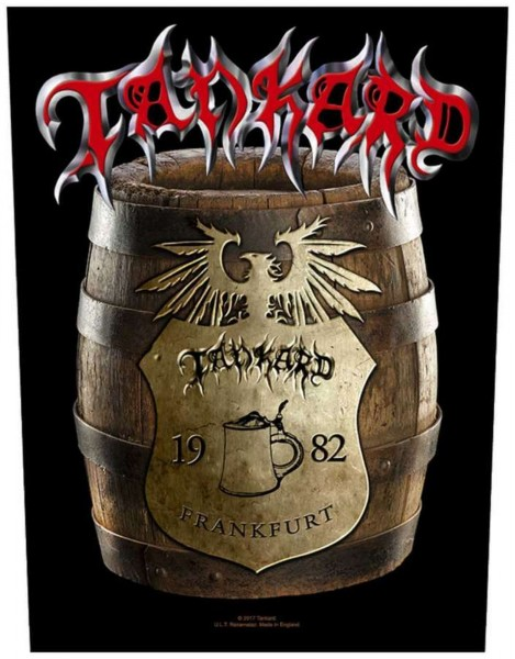 TANKARD - Beer Barrel Backpatch Rückenaufnäher