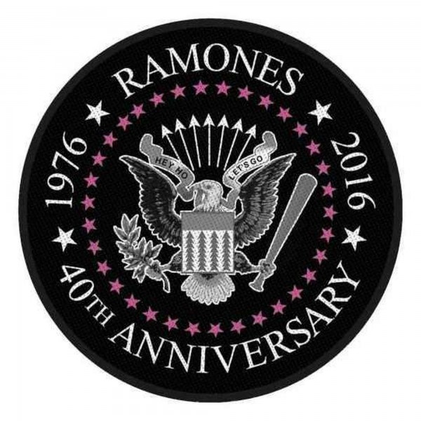 THE RAMONES - 40th Anniversary Patch Aufnäher