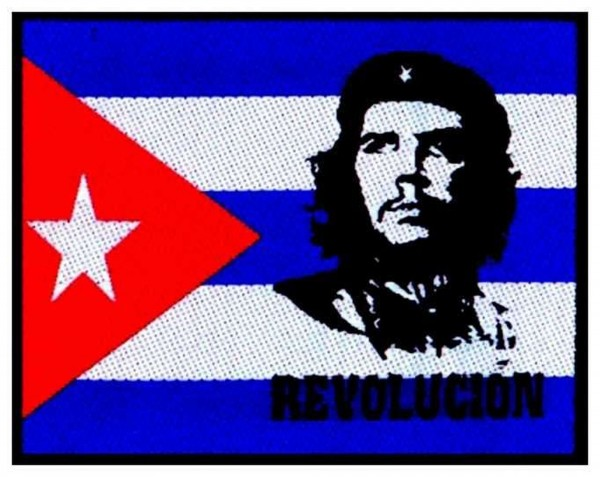 CHE GUEVARA - Flag Revolution Patch Aufnäher