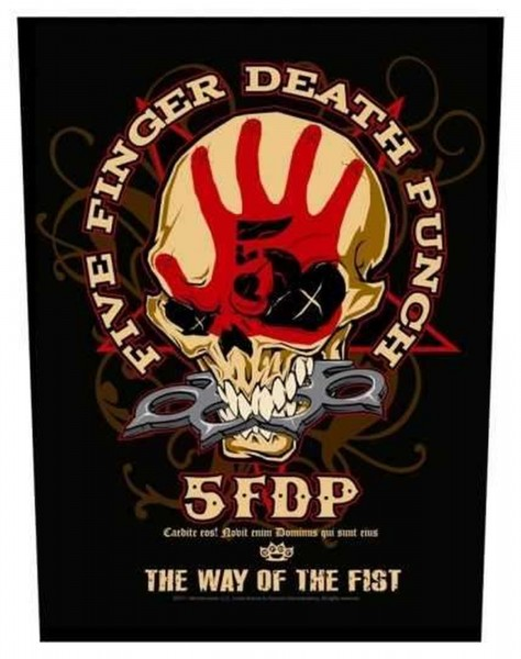 FIVE FINGER DEATH PUNCH - Way Of The Fist Backpatch Rückenaufnäher