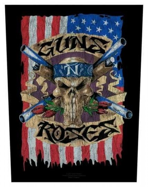 GUNS N´ROSES - US Flag Backpatch Rückenaufnäher