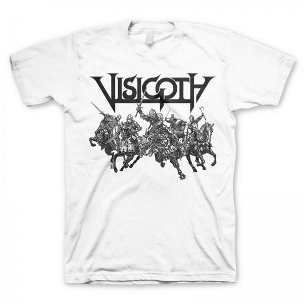 VISIGOTH - The Riders White T-Shirt