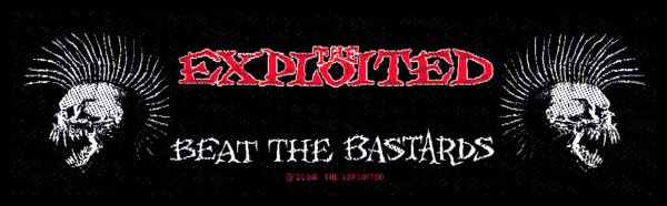 THE EXPLOITED - Beat The Bastards Patch Aufnäher Superstrip