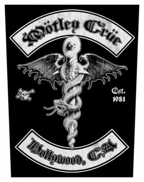 MÖTLEY CRÜE - Hollywood Backpatch Rückenaufnäher