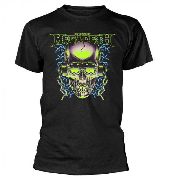 MEGADETH - 35 years Phone Skull T-Shirt