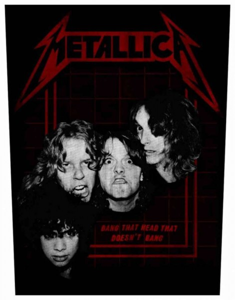 METALLICA - Bang That Head Backpatch Rückenaufnäher