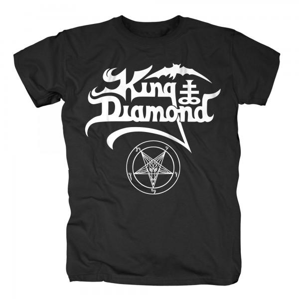 KING DIAMOND - White Logo T-Shirt
