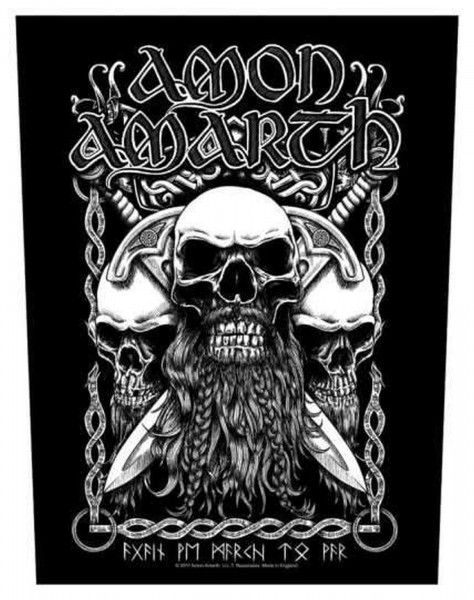 AMON AMARTH - Bearded Skull Backpatch Rückenaufnäher