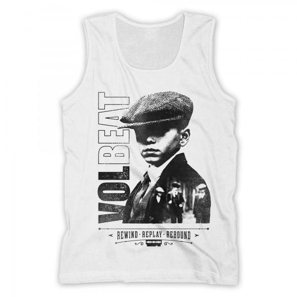 VOLBEAT - Bad Boys Tank Shirt Weiß Men´s Rewind Replay Rebound