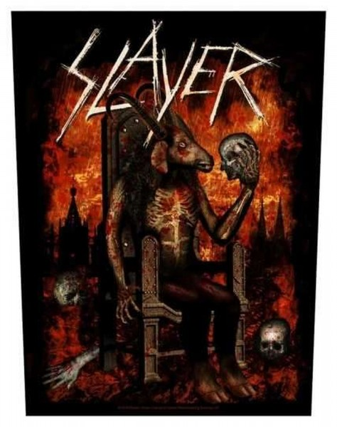 SLAYER - Devil On Throne Backpatch Rückenaufnäher