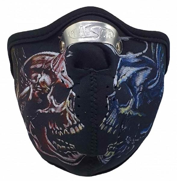 MASKE - Motorrad Gesichtsmaske Mundschutz Gesichtsschutz Devil & Angel