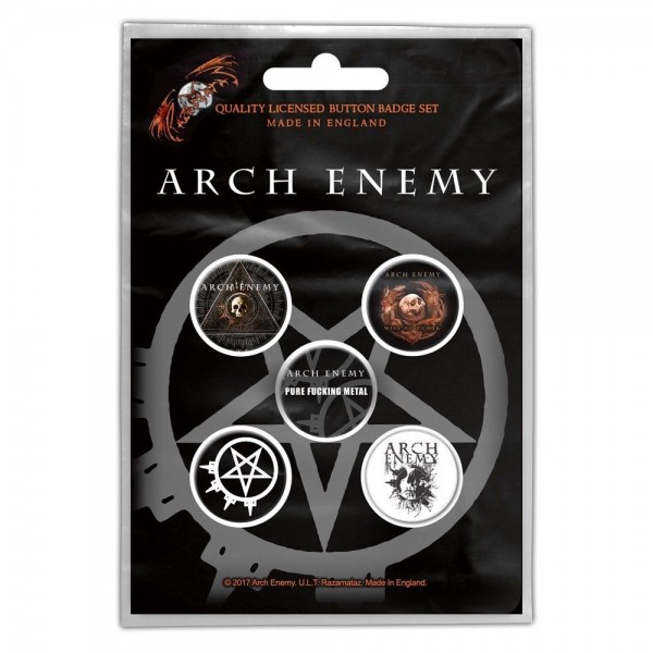 ARCH ENEMY - Will To Power Button-Set Badge Pack