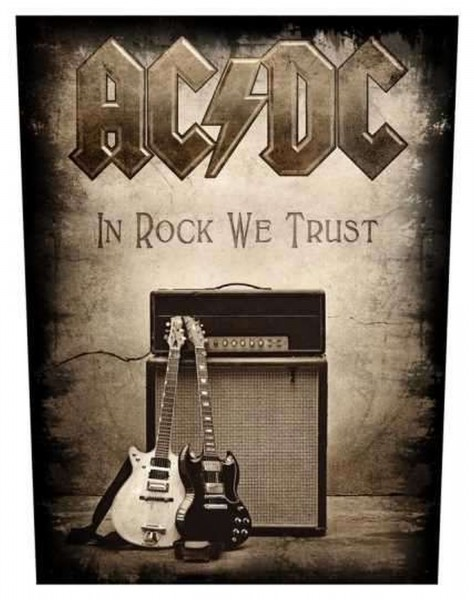 AC/DC - In Rock We Trust Backpatch Rückenaufnäher