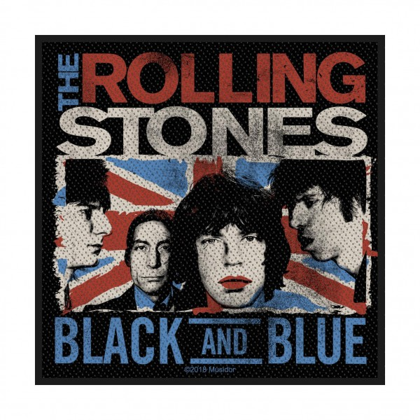 THE ROLLING STONES - Black and Blue Patch Aufnäher