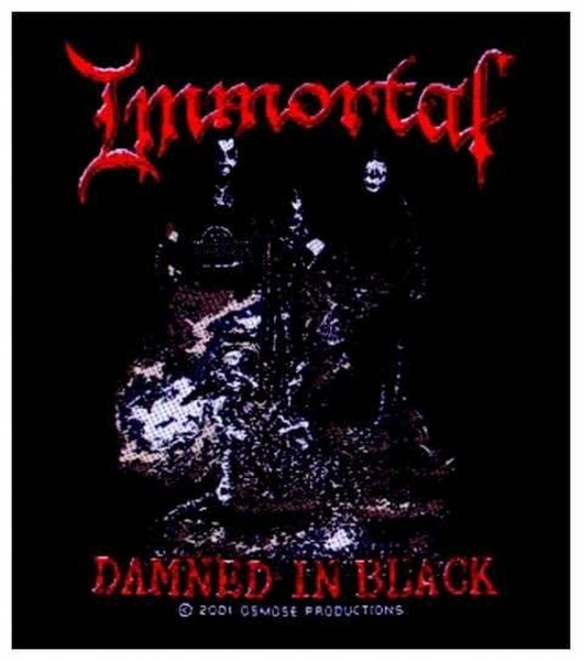 IMMORTAL - Damned In Black Patch Aufnäher