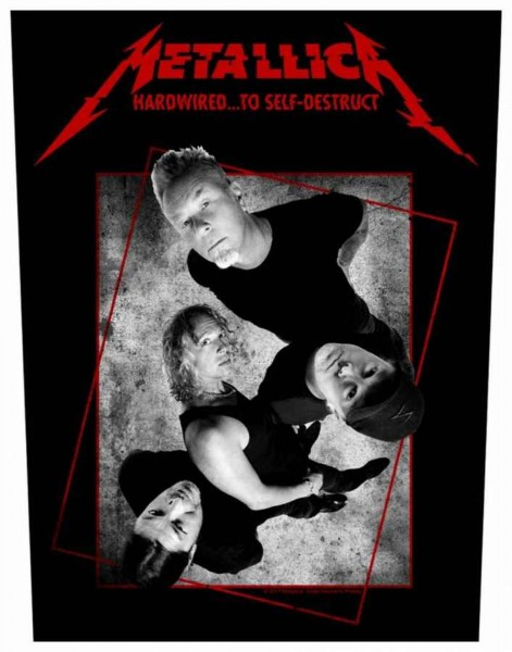 METALLICA - Hardwired Concrete Backpatch Rückenaufnäher