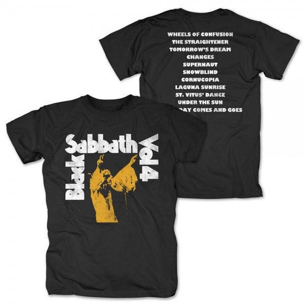 BLACK SABBATH - Vol. 4 Tracklist T-Shirt