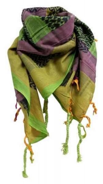 PLO Tuch Palästinensertuch - grün gelb lila