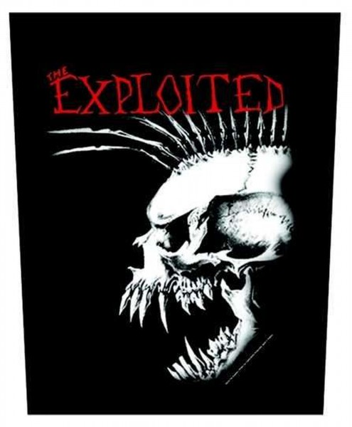 THE EXPLOITED - Skull Punk Backpatch Rückenaufnäher