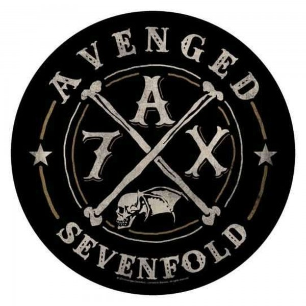 AVENGED SEVENFOLD - 7 A X Backpatch Rückenaufnäher