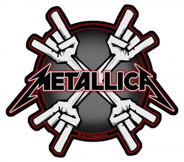 METALLICA - Metal Horns Patch Aufnäher
