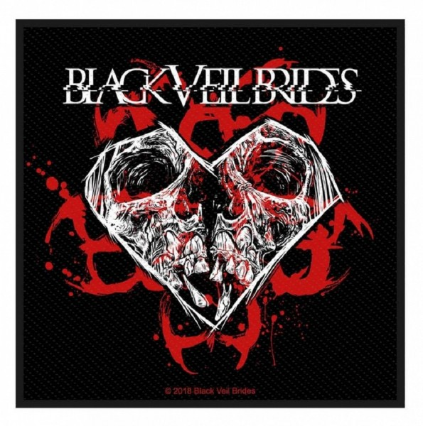 BLACK VEIL BRIDES - Skull Heart Patch Aufnäher