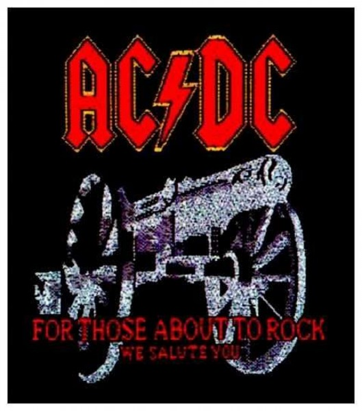 AC/DC - For those about to rock Patch Aufnäher