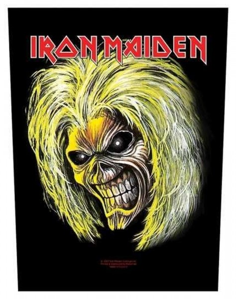 IRON MAIDEN - Killers Face Backpatch Rückenaufnäher