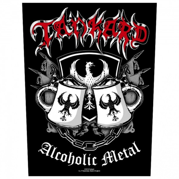 TANKARD - Alcoholic Metal Backpatch Rückenaufnäher