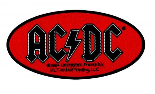 AC/DC - oval logo Patch Aufnäher