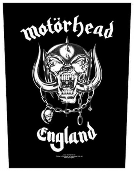 MOTÖRHEAD - England Backpatch Rückenaufnäher